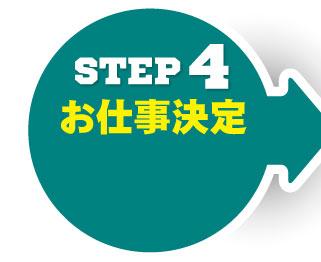 STEP4 お仕事決定